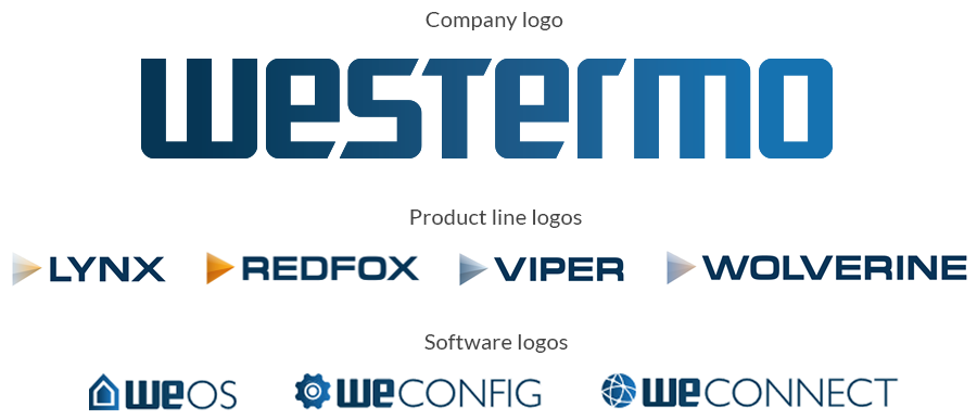 New Westermo logotypes.