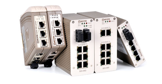 Westermo Unmanaged Industrial Ethernet Switches.