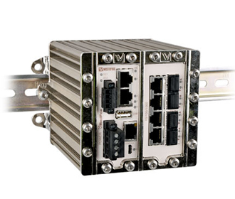 Rugged Industrial Managed Switch with 11 gigabit ports RFI-111-F4G-T7G by Westermo